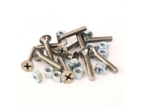 SET INOX SCREWS AND NUTS